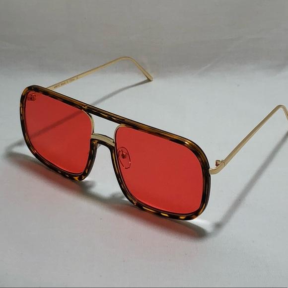 2051955cc1850 Tortoise w  Red Lens Pilot Aviator Sunglasses